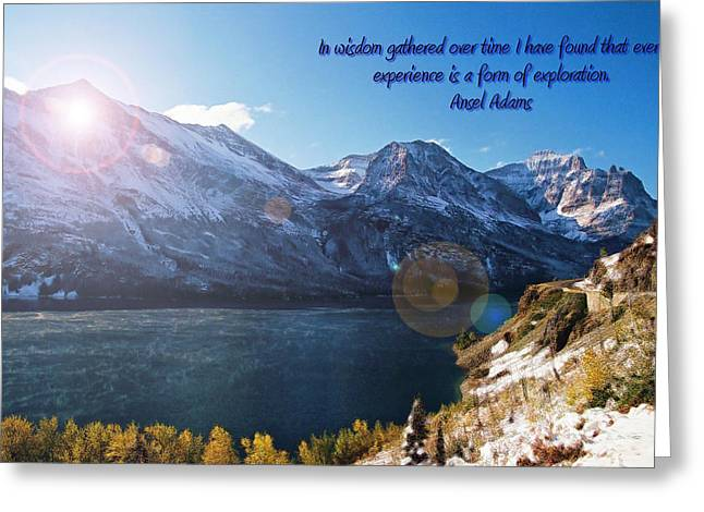 St Mary's Lake At Glacier National Park Greeting Card by Jens Larsen