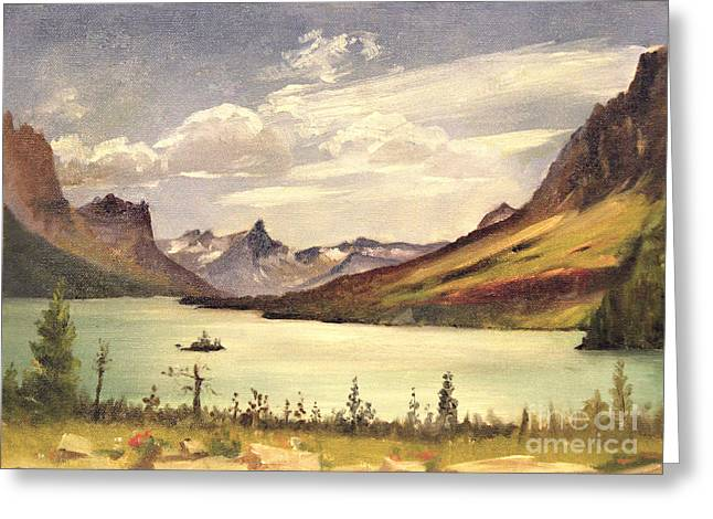 St. Marys Lake- Glacier Park 1935 Greeting Card