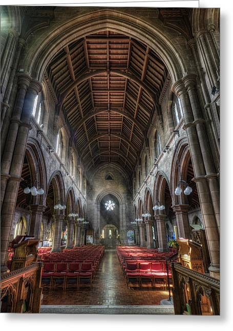 St Mary's Without The Walls V2 Greeting Card by Ian Mitchell