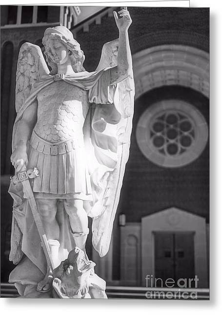 St. Michael The Archangel Greeting Card by Brian Druggan