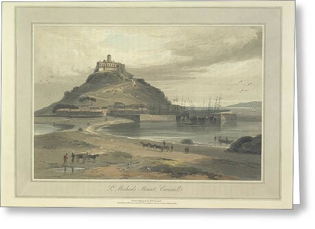 St Michaels Mount Greeting Card by British Library