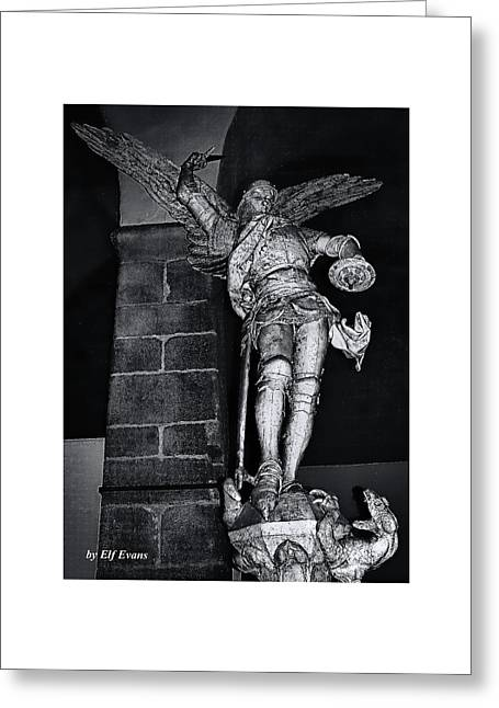 St. Michel Slaying The Dragon Greeting Card