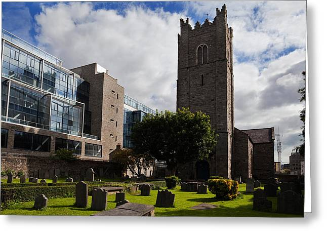 St Michens Church, 1686, Dublin City Greeting Card by Panoramic Images