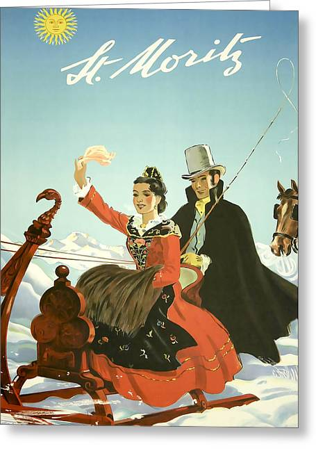 St Moritz Greeting Card by David Wagner