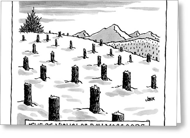 'st. Nicholas Day Massacre' Greeting Card by John Jonik