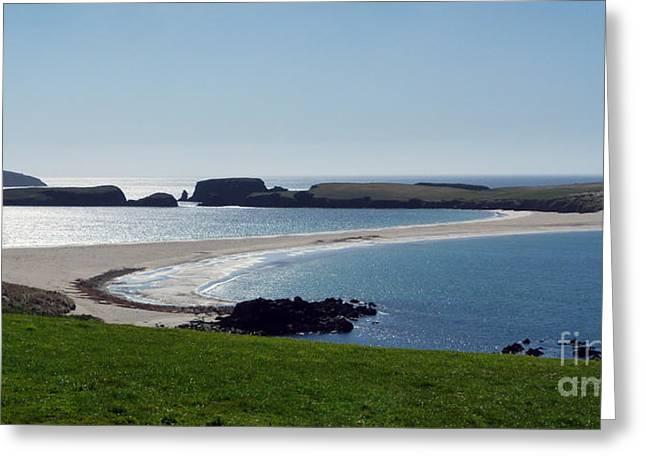 St Ninian's Isle Shetland Greeting Card by Lynn Bolt