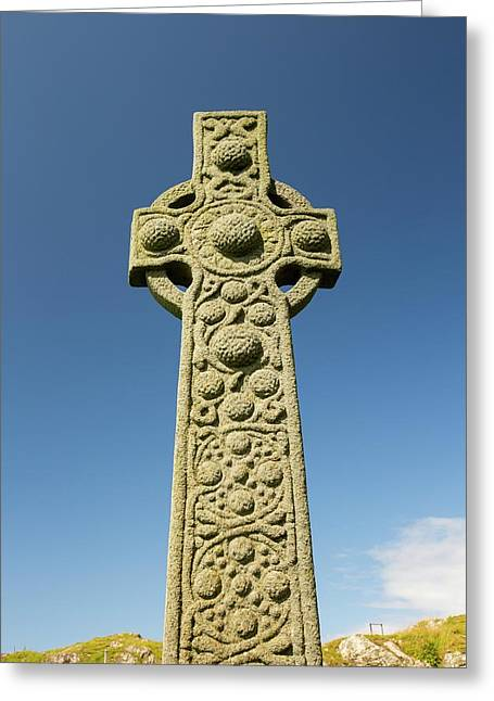St Oran's Cross In Iona Abbey Greeting Card