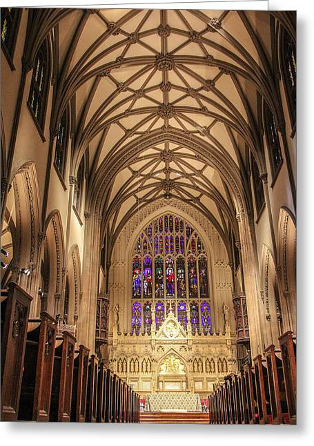 St Patrick Cathedral  Greeting Card by John McGraw