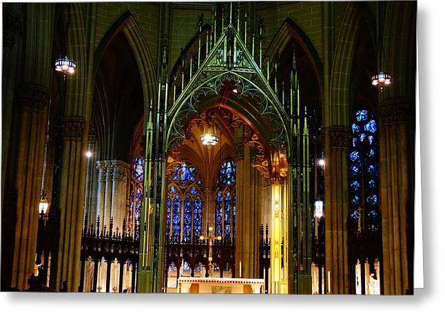St. Patrick's Cathedral In New York City Greeting Card by Dan Sproul