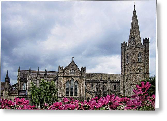 St. Patrick's Cathedral Greeting Card by Nancy Ingersoll