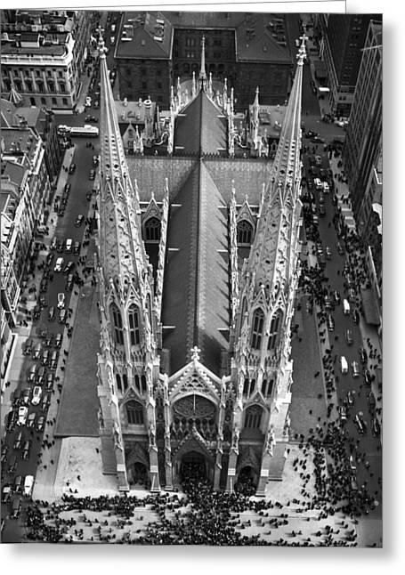 St. Patrick's Cathedral Greeting Card by Underwood Archives