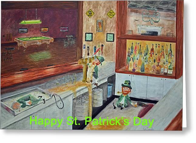 St Patricks Day Card Greeting Card by Ken Figurski