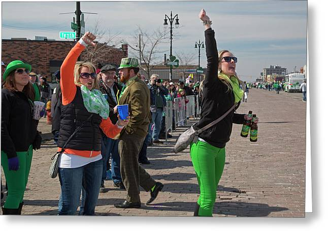 St. Patrick's Day Celebrations Greeting Card by Jim West
