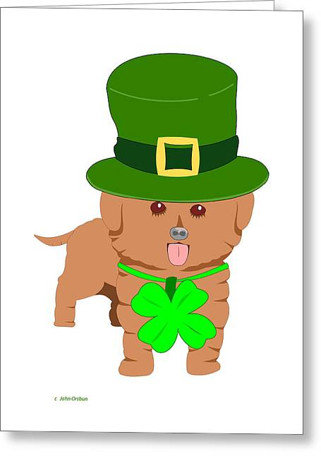 St. Patrick's Dog Greeting Card