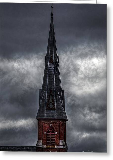 St. Patricks Spire  Greeting Card by Bob Orsillo