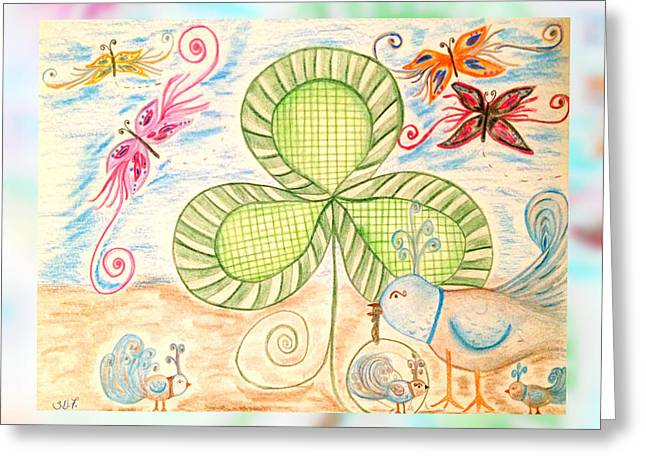 St Pattys Day Lunch Greeting Card by Sherry Flaker