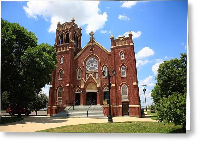 Hamel Illinois - St. Paul's Greeting Card by Frank Romeo