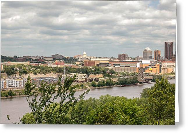 Greeting Card featuring the photograph St Paul Skyline 2005 by Mike Evangelist