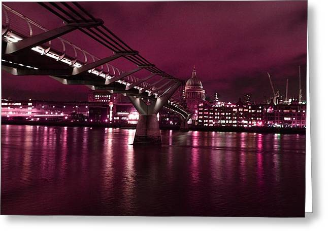 St Pauls And The Thames Greeting Card
