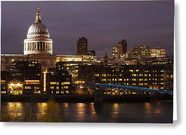 St Paul's At Night Greeting Card by Nigel Kenny