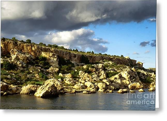 St Pauls Bay Malta Greeting Card