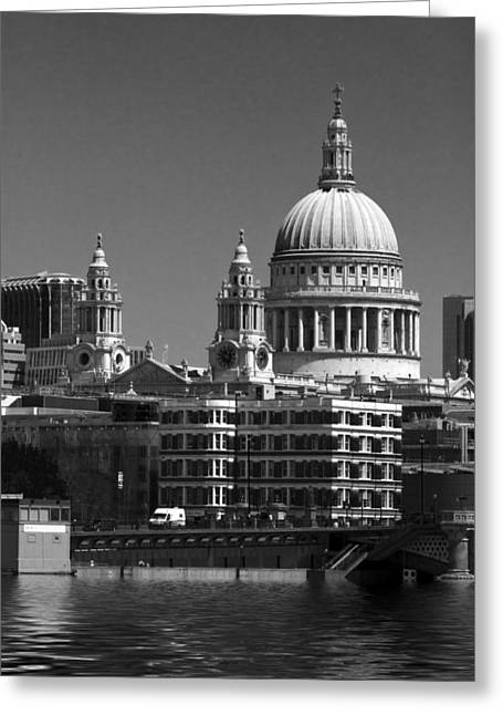 St Pauls Cathedral At London Bw Attractions  Greeting Card