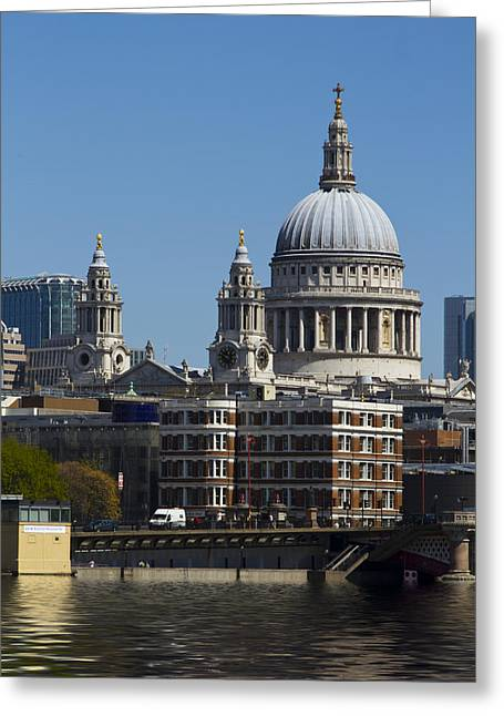 St Pauls Cathedral In London  Greeting Card