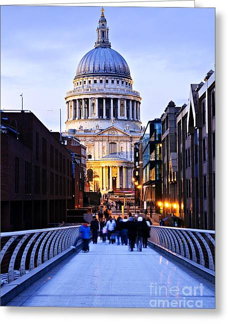 St. Paul's Cathedral London At Dusk Greeting Card
