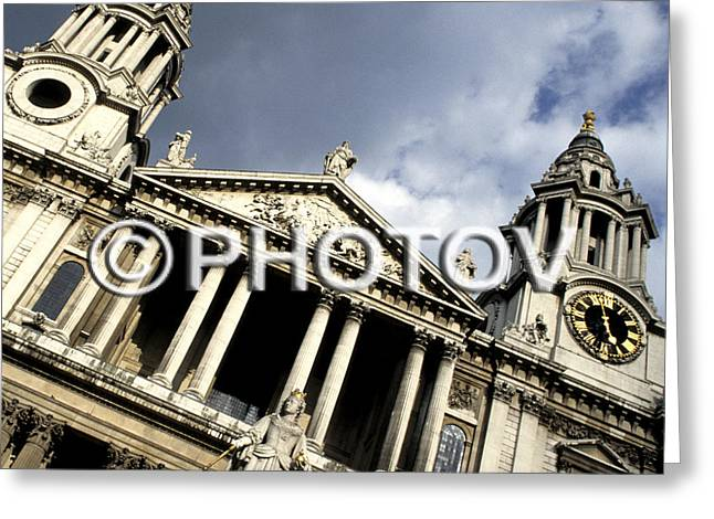 St. Paul's Cathedral - Queen Anne's Statue - London - Uk Greeting Card by Hisham Ibrahim