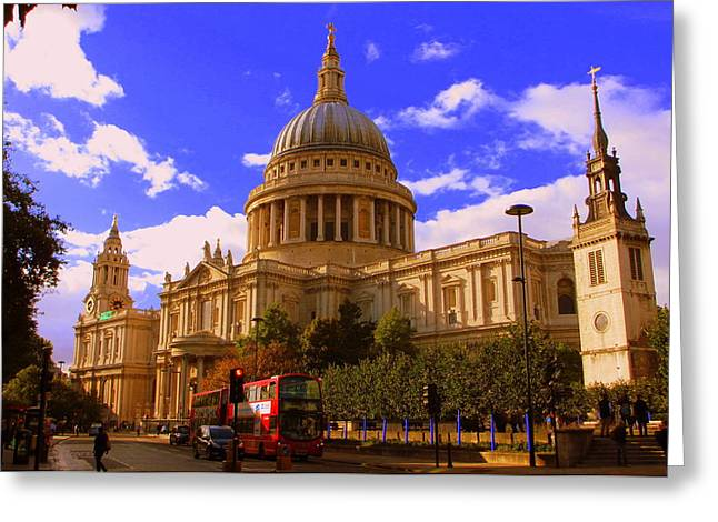 St Pauls Catherdral Greeting Card by Donald Turner