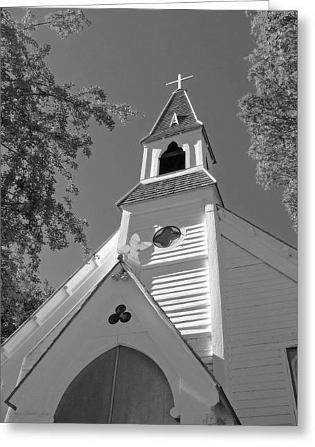 St. Paul's Church Port Townsend In B W Greeting Card