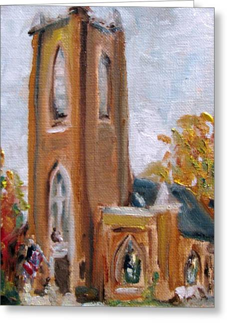 St Pauls Episcopal Church Greeting Card by Susan E Jones