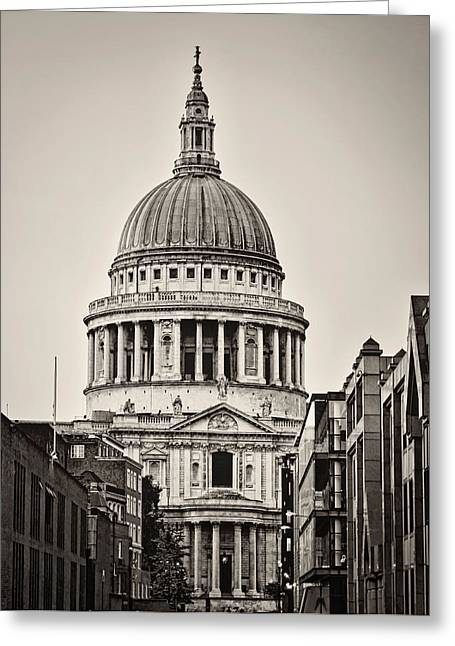 St Pauls London Greeting Card by Heather Applegate