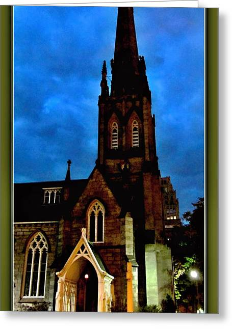 St. Paul's Presbyterian Church Front View Greeting Card by Danielle  Parent