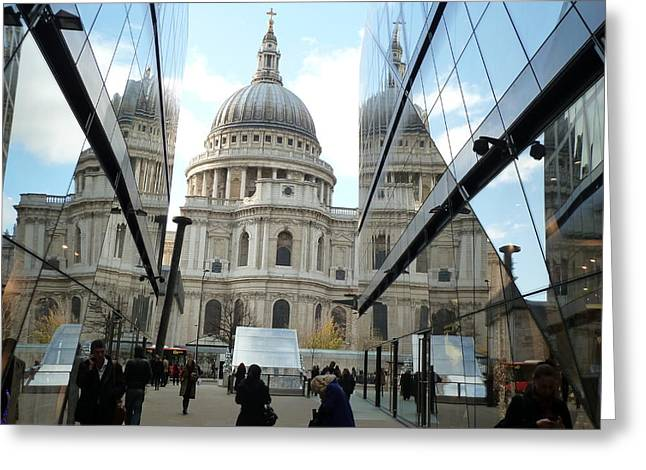 St Paul's Reflected Greeting Card