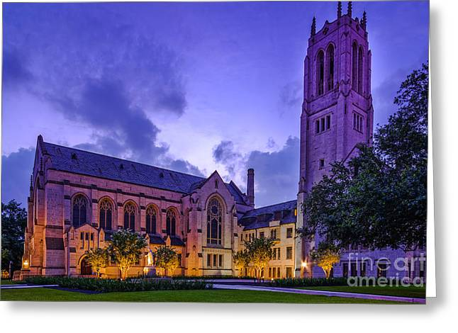 St. Paul's United Methodist Church - Houston Texas II Greeting Card by Silvio Ligutti