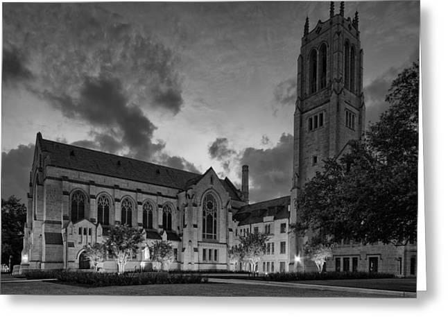 St. Paul's United Methodist Church In Bw - Houston Texas Greeting Card