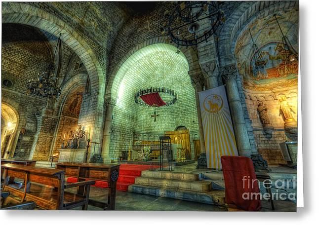 St Pere De Puelles Church - Barcelona Greeting Card