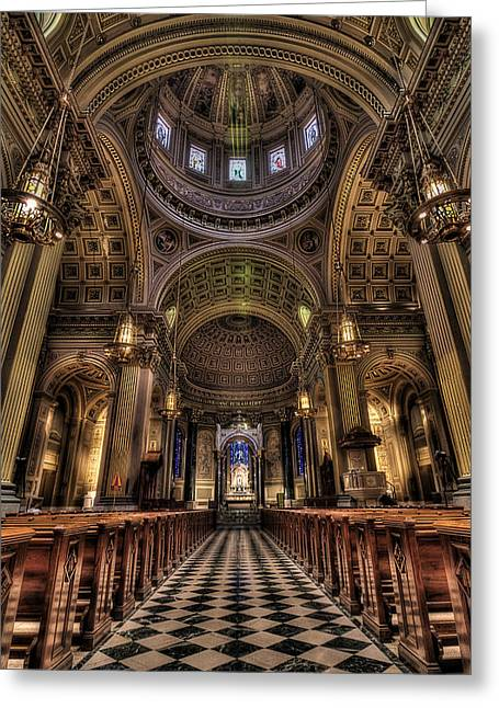 St. Peter And Paul Cathedral Greeting Card by Kim Zier