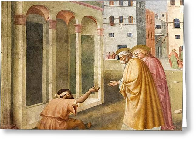 St. Peter Healing The Cripple. Greeting Card