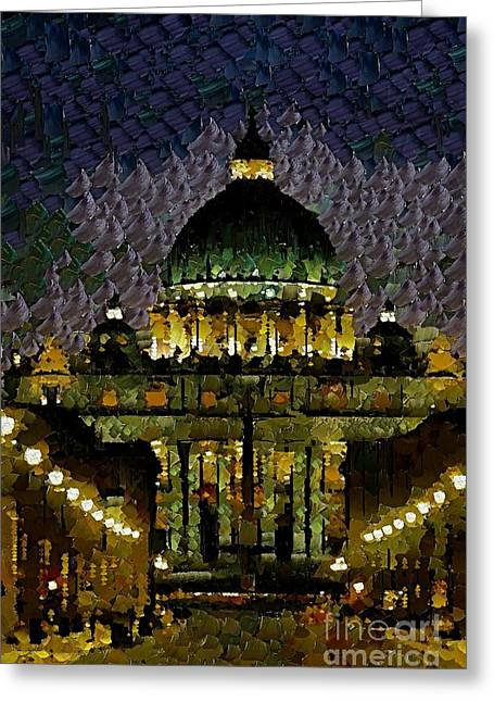 St. Peter's Basilica Greeting Card by Dragica  Micki Fortuna