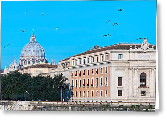 St. Peters Basilica In Vatican City Greeting Card by Panoramic Images
