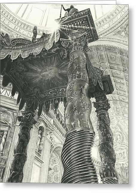 St. Peters Basilica  Greeting Card by Norman Bean