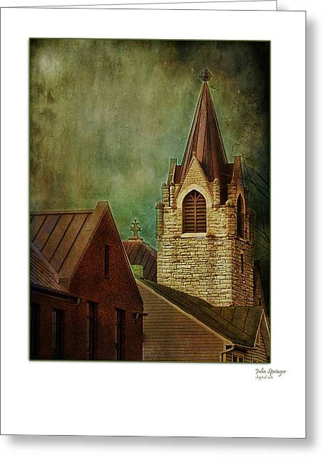 St Peter's By Night Greeting Card Greeting Card