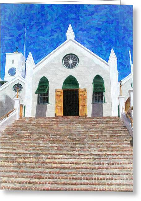 Greeting Card featuring the photograph St. Peter's Church  by Verena Matthew
