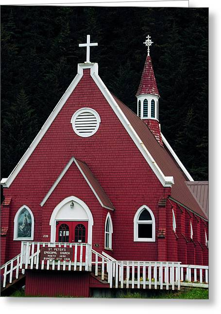 St Peter's Episcopal Church, Seward Greeting Card