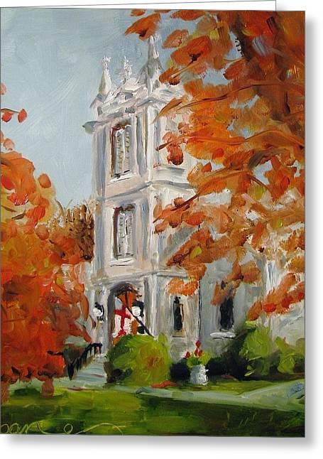 St Peters Episcopal Church Greeting Card by Susan E Jones