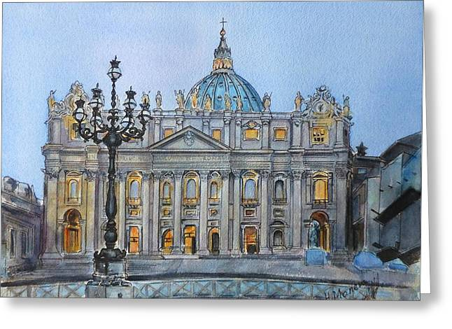 St. Peter's Square Greeting Card