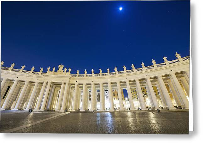 St. Peter_s Square, Vatican City_ Rome Greeting Card by Mats Silvan