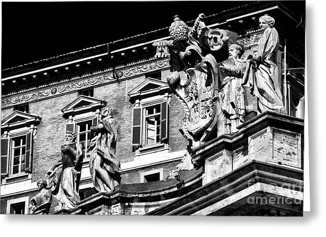 St. Peters Watchers Greeting Card by John Rizzuto